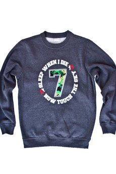 "LIFESTAB - TOUCH THE SKY ""Lucky7″ crewneck"
