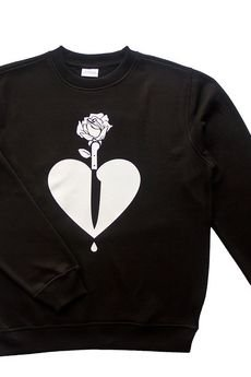 LIFESTAB - KNIFE in HEART crewneck