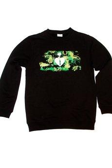 LIFESTAB - Camo KNIFE IN HEART crewneck (black)