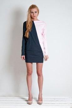 OCEeco - sukienka assymetric gray/pink