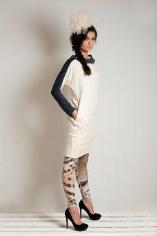 OCEeco - sukienka symmetric cream/gray