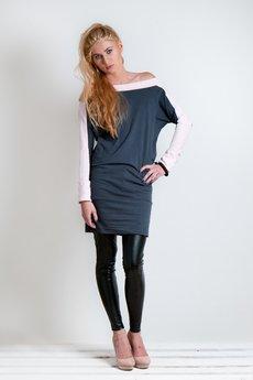OCEeco - sukienka symmetric gray/pink
