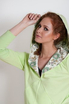 OCEeco - bluza z kapturem FLOWEaR light green