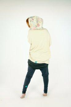 OCEeco - bluza na zamek z kwiecistym kapturem