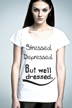 NAOKO - T-shirt NOH8 Stressed Depressed