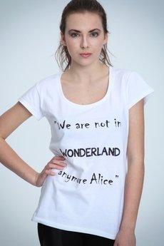NAOKO - T-shirt NOH8 Alice Not In Wonderland