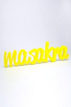 Twórczywo - masakra - napis 3D na ścianę