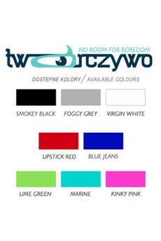Paleta kolorow napisy z pianki tworczywo