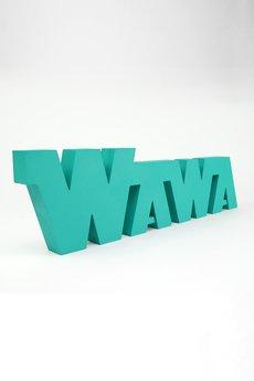 Twórczywo - Wawa kanciata - napis 3D na ścianę