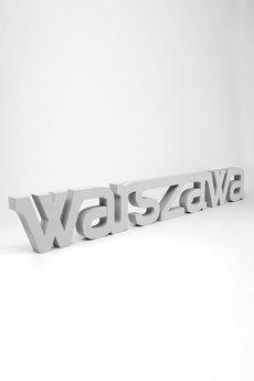 Twórczywo - Warszawa - napis 3D na ścianę
