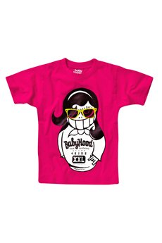 BABYHOOD - T-shirt Matryoshka Glasses Raspberry