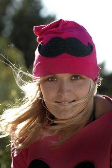 Chapoosie pink beanie mustache