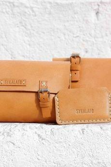 SYKALAFO - Bicycle Leather Tool Bag