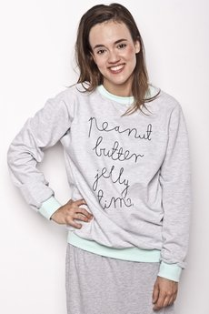Peanut Butter Jelly Time - bluza logo/mint