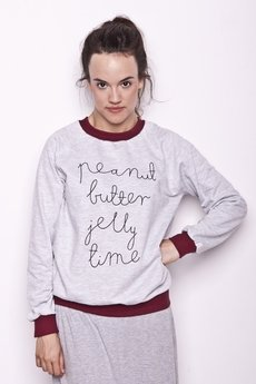 Peanut Butter Jelly Time - bluza logo/burgund