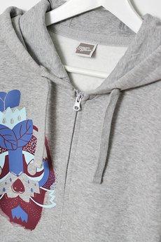 Szara Bluza - bluza męska na suwak #3