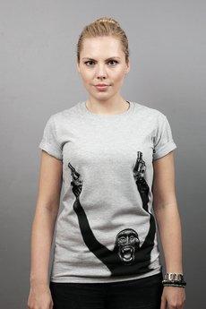 Szara Bluza - koszulka damska I Say Mikey