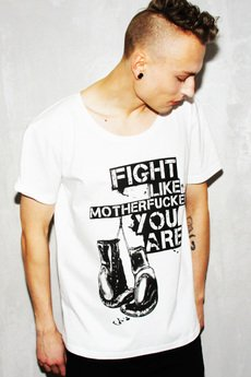 Lazy Kant - T-shirt Fight Like Motherfucker You Are