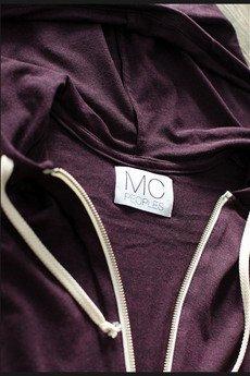 """MC Peoples - White zip hoodie """"Purple Haze"""""""