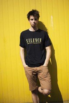 Hi - Męski T-shirt SILENCE
