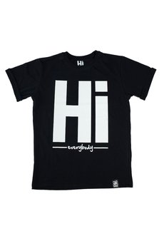 Hi - Męski T-shirt Hi everybody