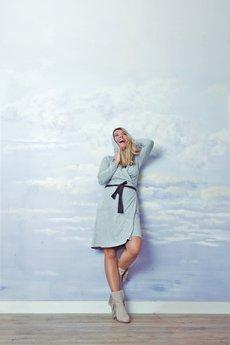 RISK made in warsaw - sukienka dwustronna DOUBLE DUTY grafit