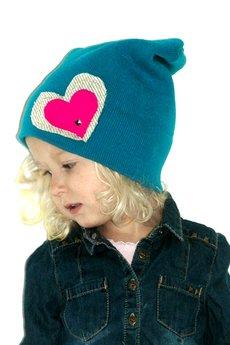 Chapoosie czapka blue beanie   sweet hearts 2