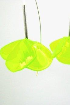 ekoista - Fiołki eko kolczyki - neonowe