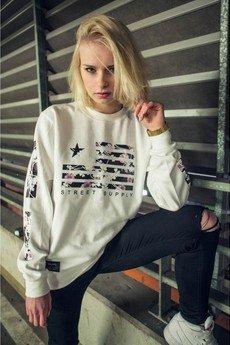 MAJORS - Floral Flag Sweatshirt