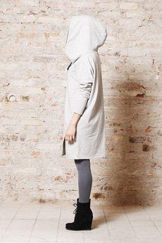 NUBEE - Bluza w formie płaszcza - dzianiowa z suwakiem