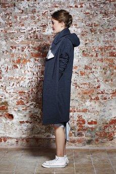 NUBEE - Bluza w formie płaszcza - dzianiowa z ogromnym kapturem