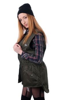 Vintage For Ever - Khaki waistcoat