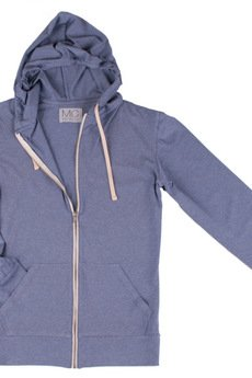 "MC Peoples - White zip hoodie ""Principe Azul"""
