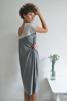PULPA - Two tone grey dress