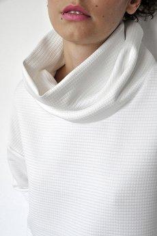 PULPA - Milky gridded sweatshirt