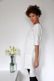 PULPA - Milky gridded pocket dress