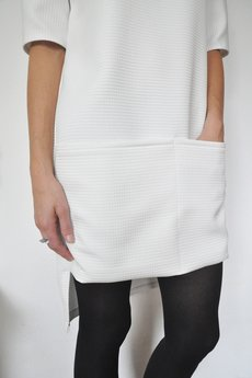 - Milky gridded pocket dress