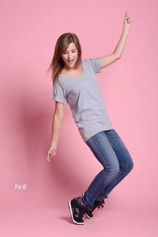 Paradox - Px 8. Popielaty T-shirt oversize