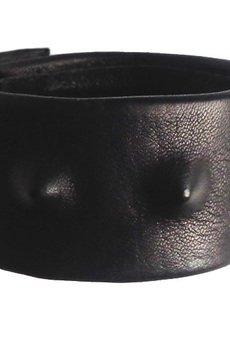 - Bransoleta skórzana czarna kolce