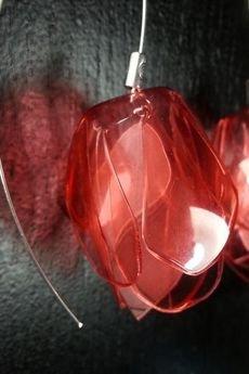ekoista - Lilie eko kolczyki - czerwone