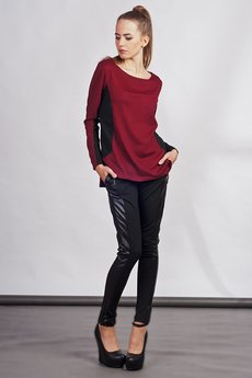 Lanti - Blouse with longer back - red - BLU 108