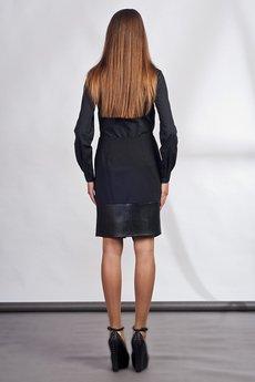 Lanti - Classy skirt with asymmetric zipper - black - SP103
