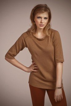 Lanti - Simple tunic - mocca - BLU 013