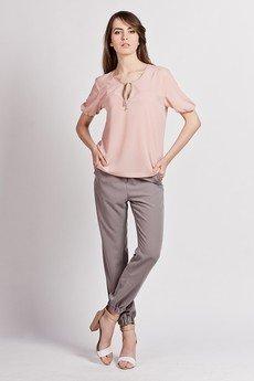 Lanti - Feminine tied blouse - pink - BLU 105