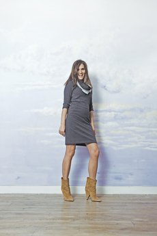RISK made in warsaw - sukienka SLIM FAST grafit