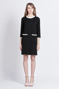 - Minimalistic chic dress - black - SUK 103