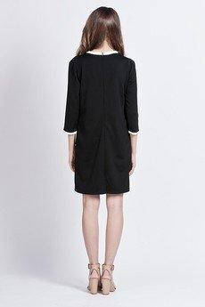 Lanti - Minimalistic chic dress - black - SUK 103