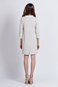 Lanti - Minimalistic chic dress - gray - SUK 103