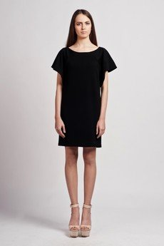 - Dress with frills - black - SUK 104