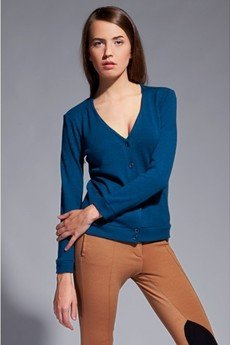 - Simple v-neck cardigan - blue - SWE 013
